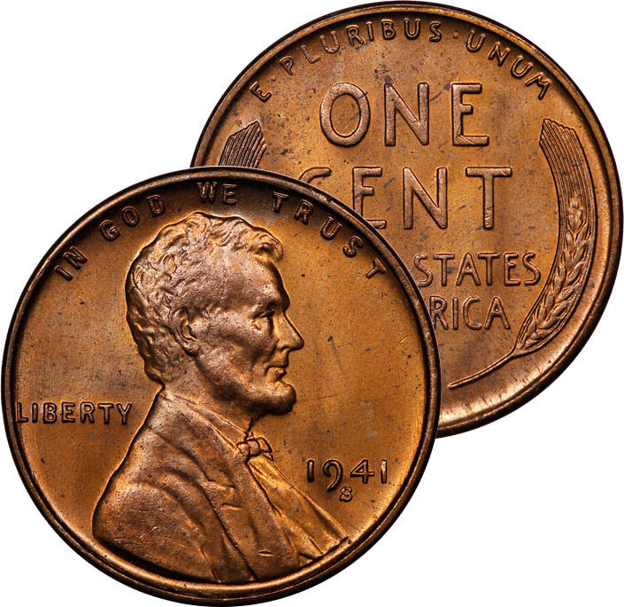 Elegant 1941 S Lincoln Wheat Cent Coin Ms Red Choice Bu Lincoln Head Penny Of Great 48 Models Lincoln Head Penny