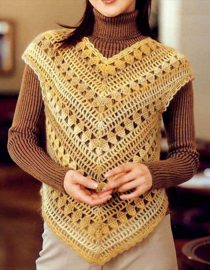 Elegant 20 Stylish Crochet Sweater Vest Design Womens Crochet Vest Of Amazing 47 Pics Womens Crochet Vest