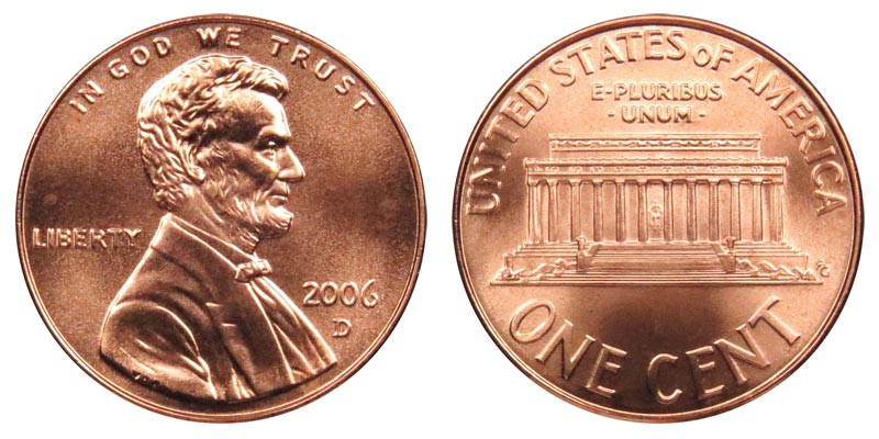 Elegant 2006 D Lincoln Memorial Cent Copper Plated Zinc Penny Lincoln Cent Values Of Amazing 50 Images Lincoln Cent Values