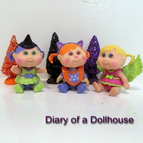 2013 Halloween Mini Cabbage Patch Kids Babyland Mini Dolls