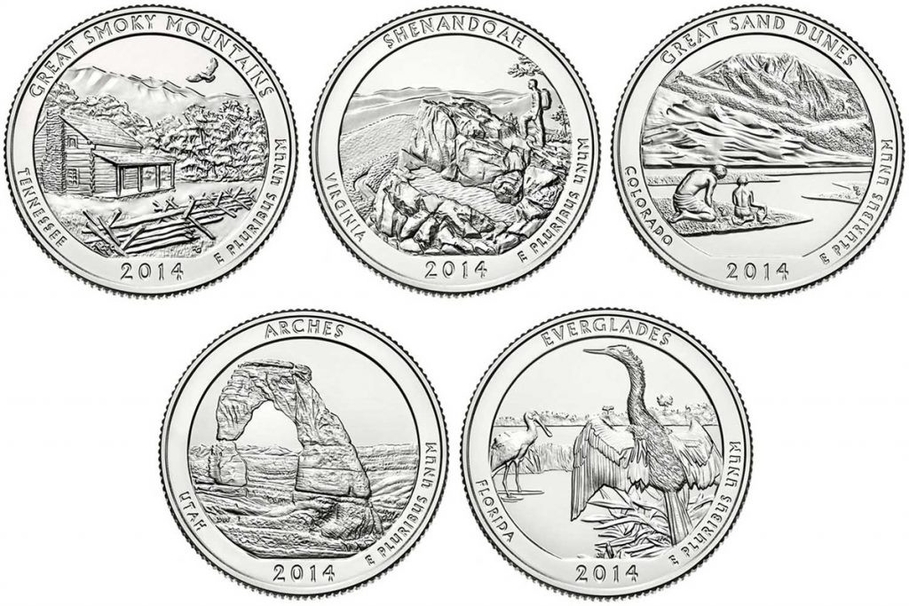 Elegant 2014 D Everglades National Park Quarter Value America State Quarter Set Value Of New 2007 P & D United States Mint Uncirculated Coin Set State Quarter Set Value
