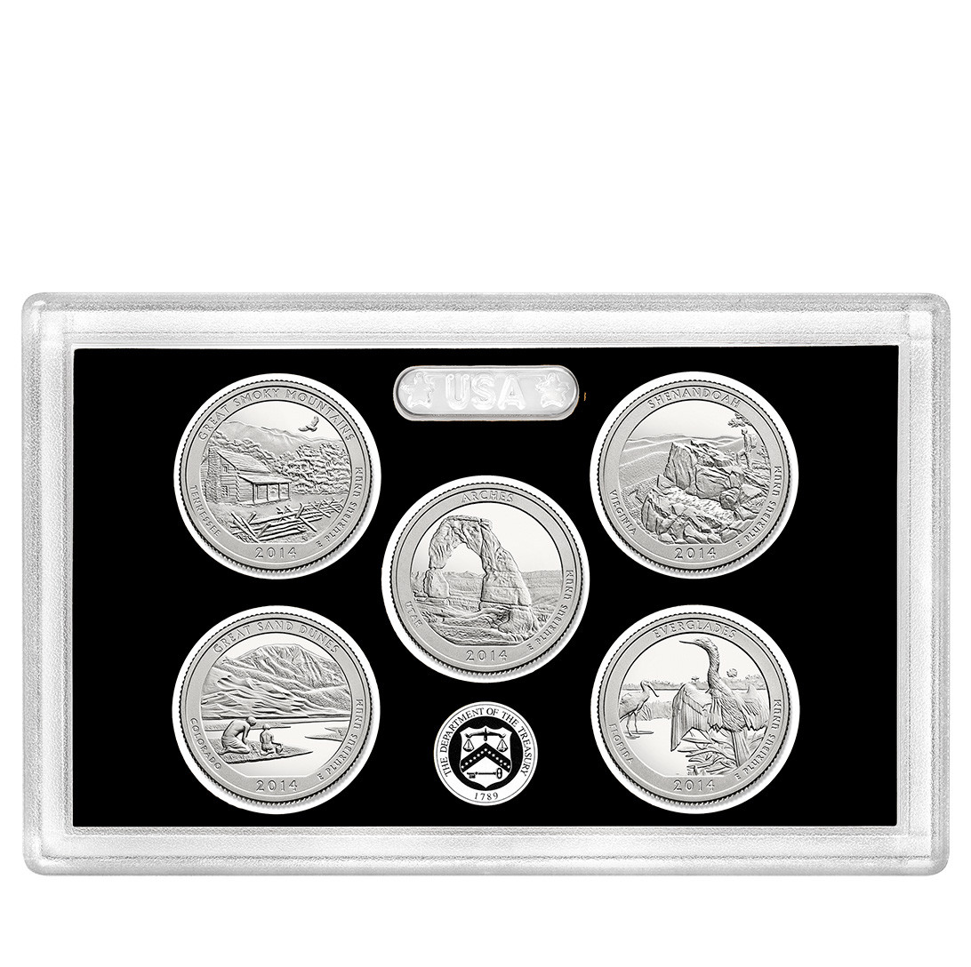 Elegant 2014 United States Mint America the Beautiful Quarters State Quarter Proof Set Of Top 48 Images State Quarter Proof Set