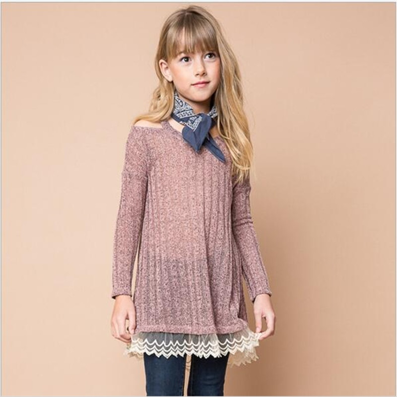 Elegant 2016 Big Baby Girls Knit Lace Sweater Dresses Teenager F Baby Girl Knitted Dress Of Incredible 47 Photos Baby Girl Knitted Dress