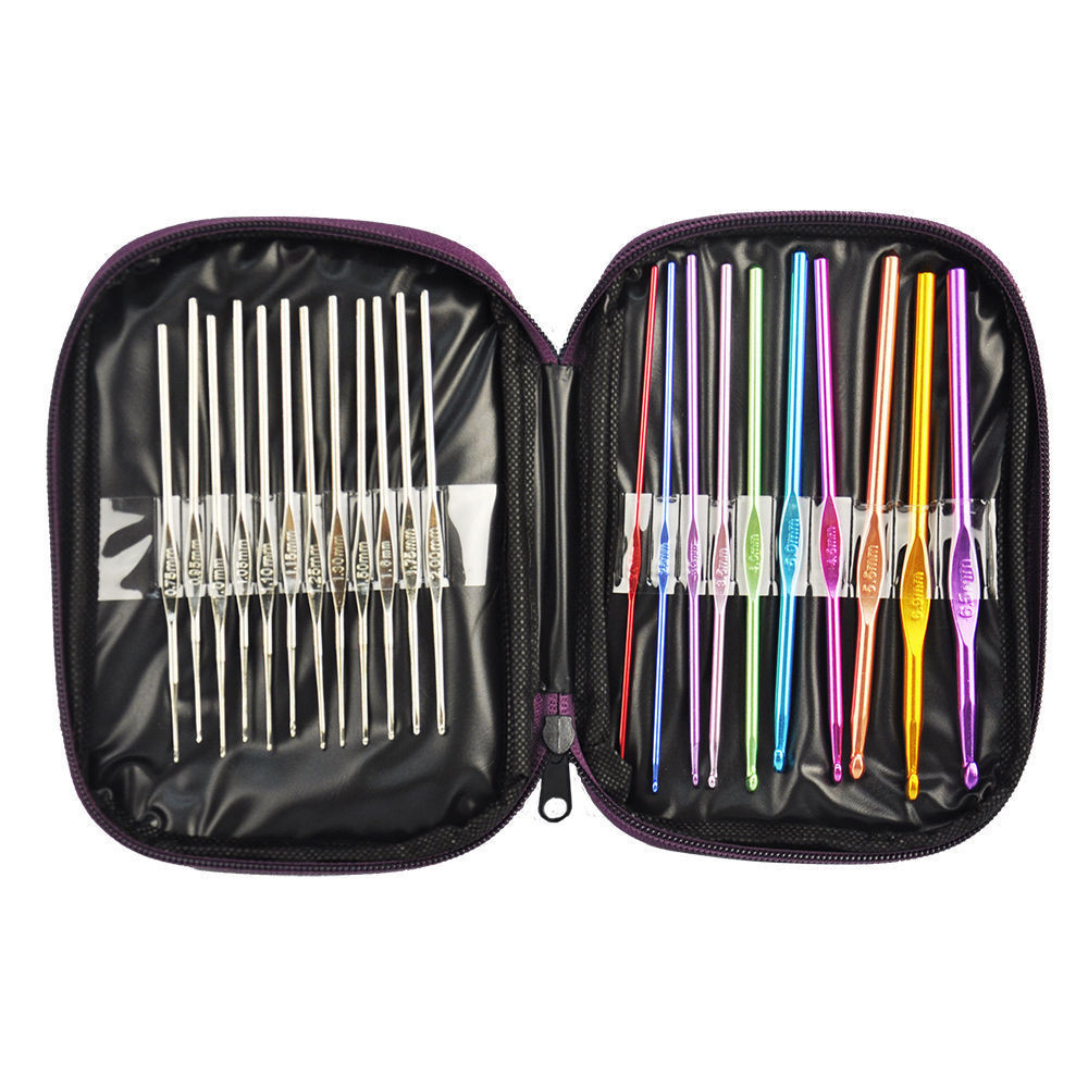 Elegant 22pc Multi Colour Aluminum Crochet Hooks Yarn Knitting Crochet Hook Sets with Case Of Amazing 49 Images Crochet Hook Sets with Case