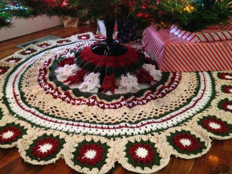 Elegant 23 Crochet Skirt Pattern Ideas for You to Try Out Sizzle Crochet Tree Skirt Of Innovative 45 Ideas Crochet Tree Skirt