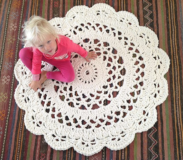 25 best ideas about Doily Rug on Pinterest