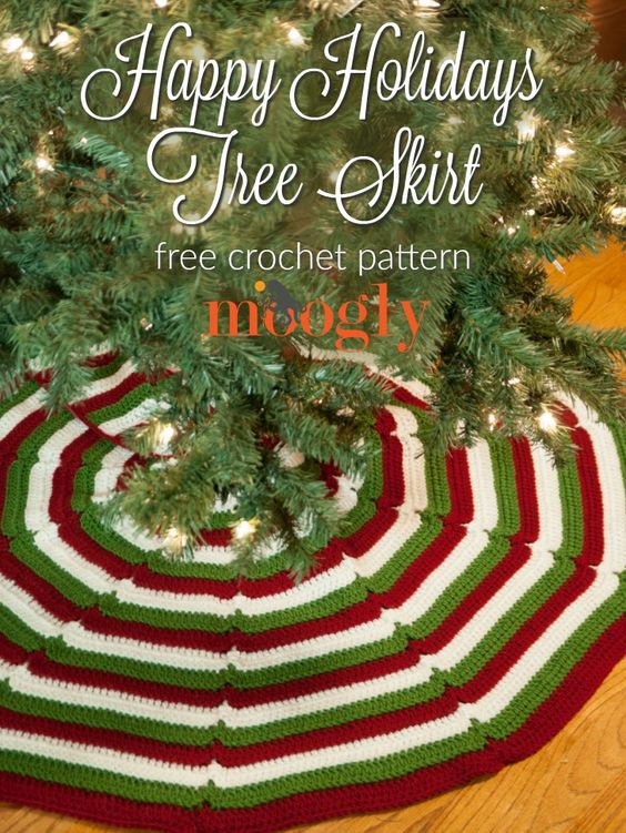 Elegant 25 Free Christmas Crochet Patterns for Beginners Hative Crochet Tree Skirt Of Innovative 45 Ideas Crochet Tree Skirt