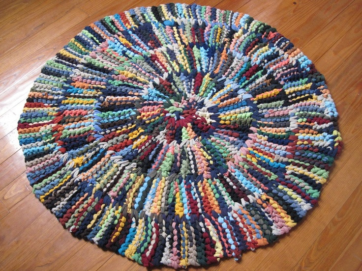 Elegant 30 Best Images About Knit Rag Rugs On Pinterest T Shirt Rug Crochet Of Amazing 48 Pics T Shirt Rug Crochet