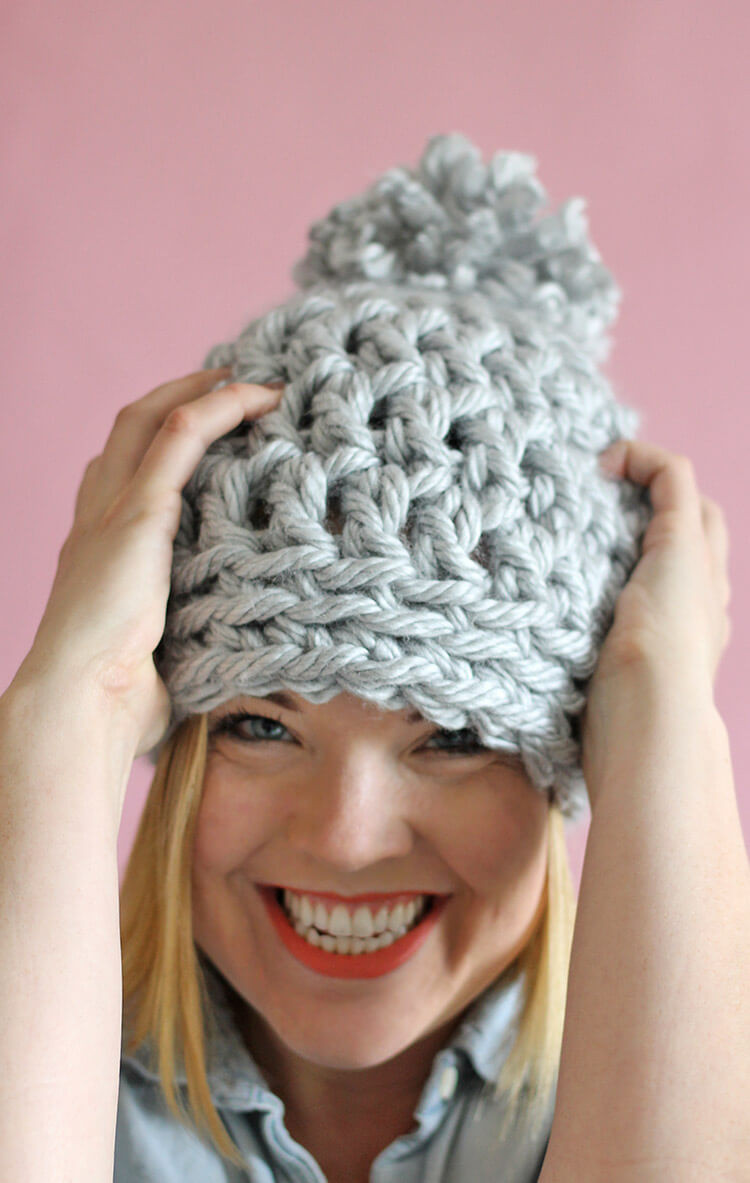 Elegant 30 Minute Easy Chunky Crochet Beanie Persia Lou Chunky Knit Hat Of Delightful 46 Pictures Chunky Knit Hat