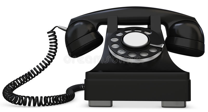 Elegant 3d Black Old Fashioned Phone Stock Illustration Old Time Phone Of Great 44 Models Old Time Phone