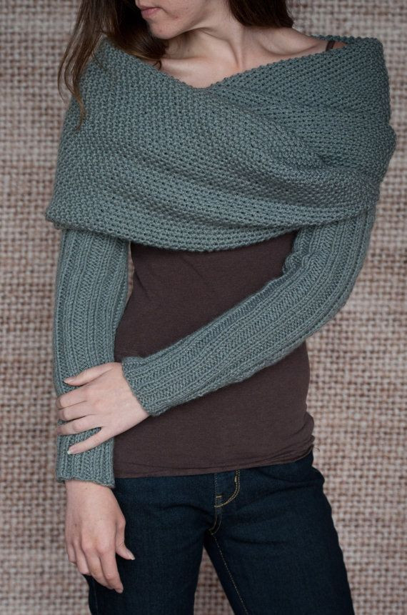 knitting shawl poncho wrap