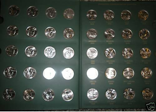 50 STATE QUARTERS COLLECTION WITH DC & US TERRITORIES D