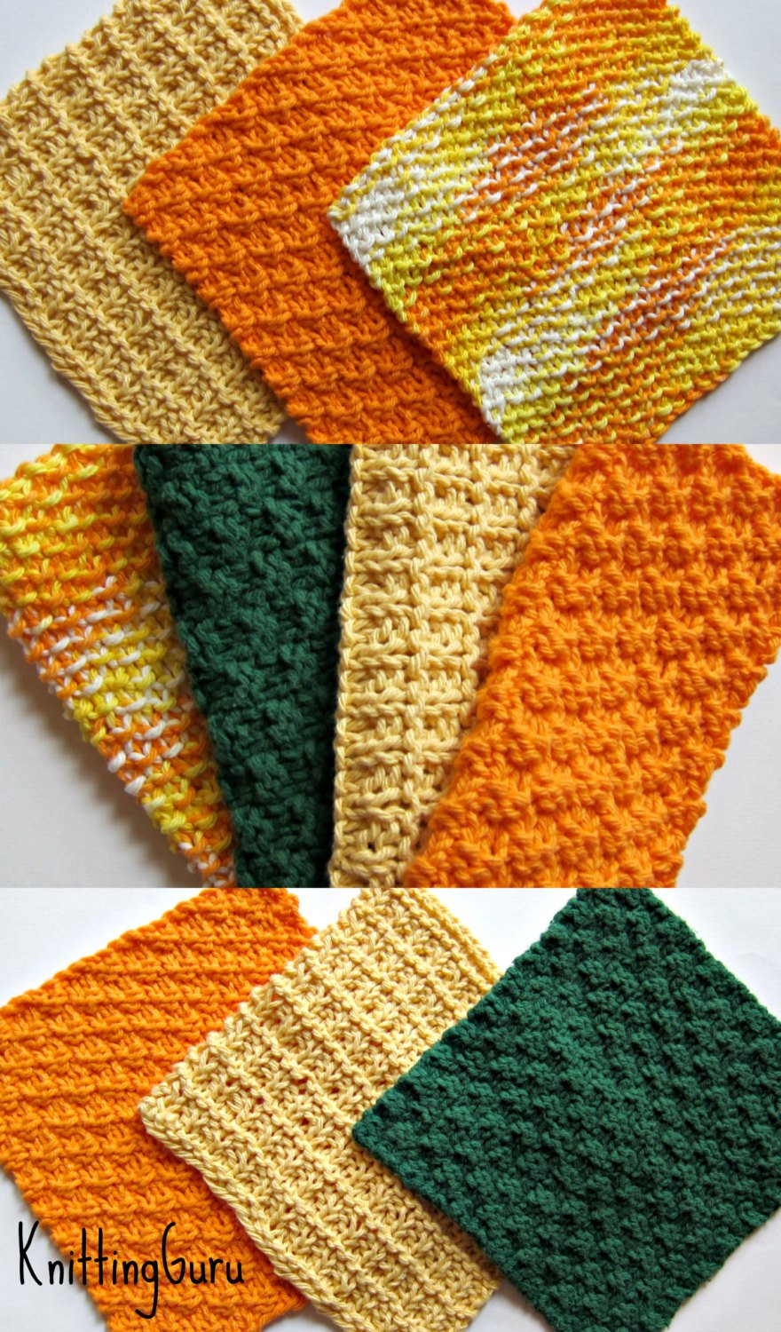Elegant 6 Knit Dishcloth Patterns Tutorials E Book Pdf Fast Easy Ecofriendly Diy Instant Download Dishcloth Patterns Of Charming 41 Images Dishcloth Patterns