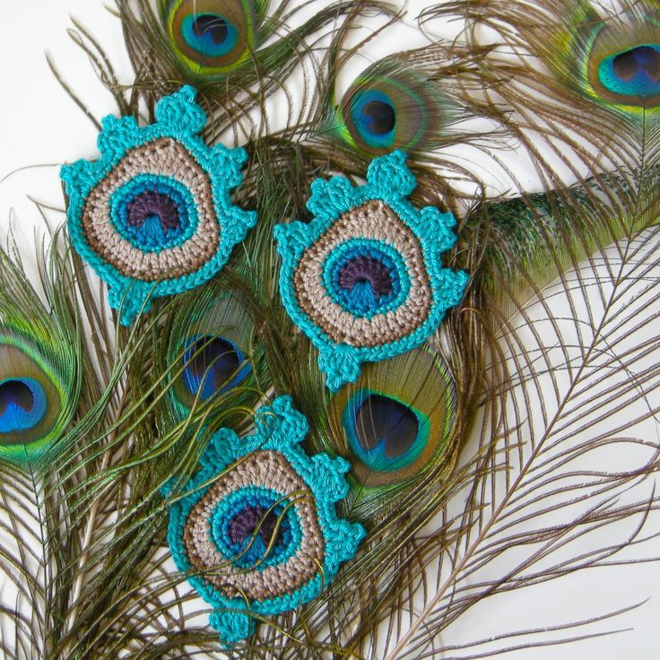 Elegant 749 Best Images About Crochet Appliques Motifs On Crochet Peacock Feather Of Great 44 Models Crochet Peacock Feather