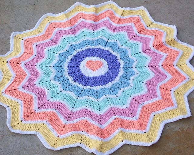 Elegant 78 Best Images About Round Ripple Rugs & Star Type Round Crochet Blanket Pattern Of Wonderful 41 Models Round Crochet Blanket Pattern
