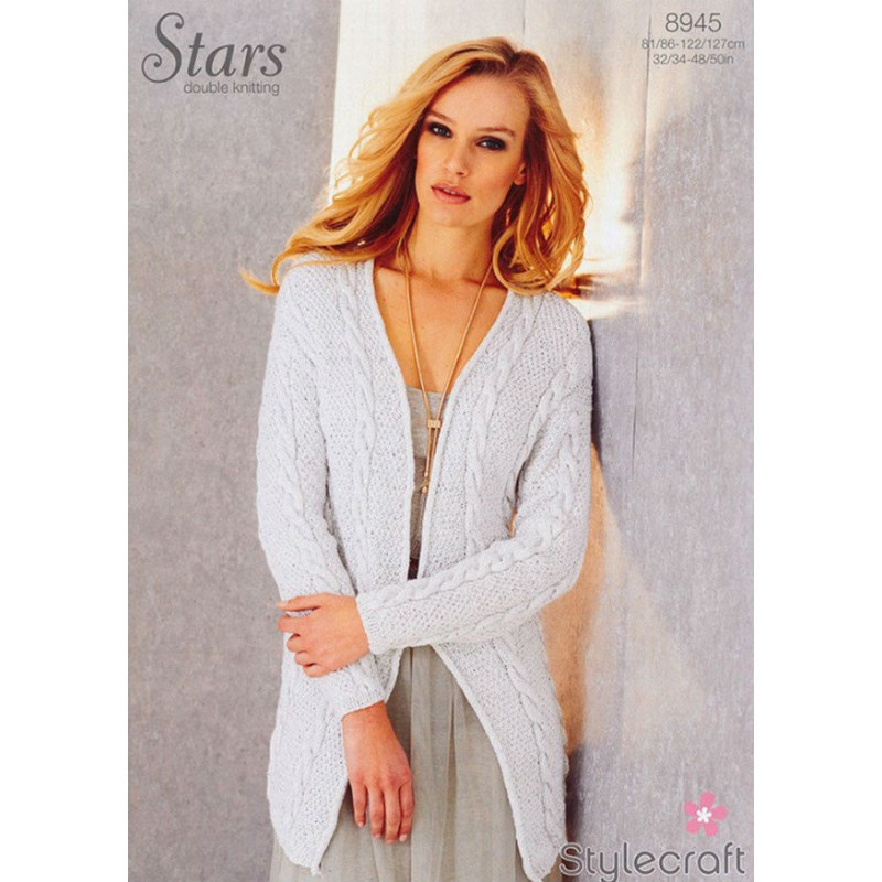 Elegant 8945 Stylecraft Stars Dk La S Long Cardigan Knitting Long Cardigan Knitting Pattern Of Adorable 44 Models Long Cardigan Knitting Pattern