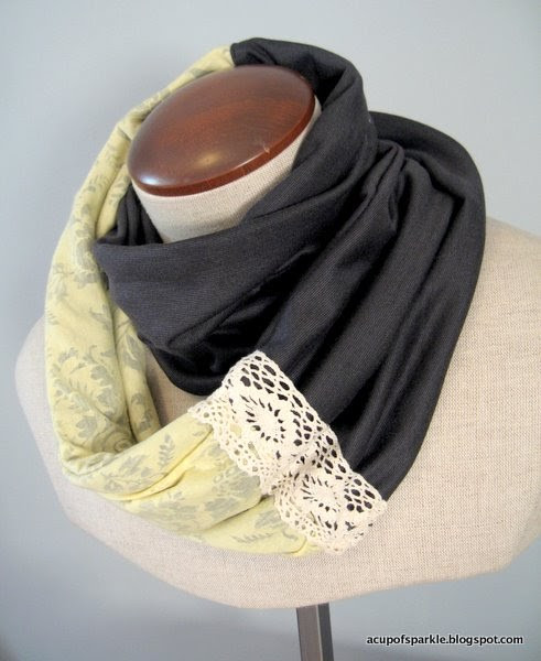 Elegant A Cup Sparkle Jersey Lace Scarf Tutorial Lace Infinity Scarf Of Charming 45 Ideas Lace Infinity Scarf