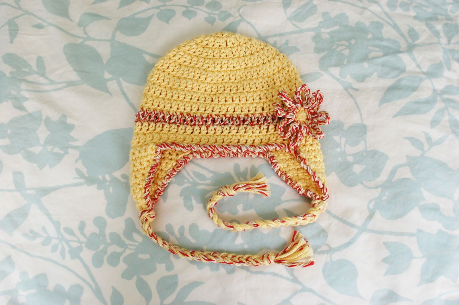 Alli Crafts Free Pattern Baby Earflap Hat 6 months