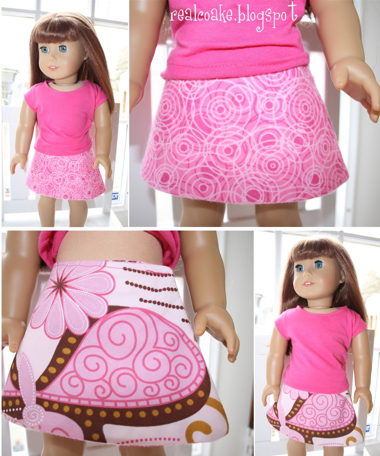 American Girl doll clothes pattern to sew a reverisble