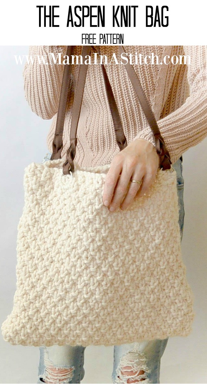 Elegant aspen Mountain Knit Bag Pattern – Mama In A Stitch Knitting Bags and totes Of Marvelous 48 Ideas Knitting Bags and totes
