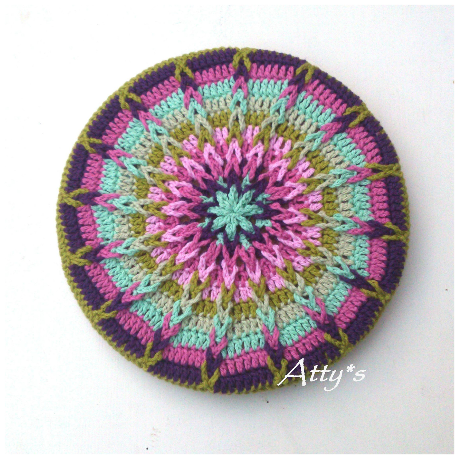 atty s Crochet Mandala Pot Coaster Tutorial