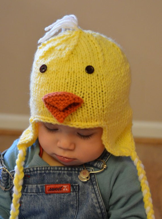 Elegant Baby Chicken Hat Chick Hat Bird Hat by Baby Chicken Hat Of New Baby Chick Hat Knitting Pattern Baby Chicken Hat Easter Baby Chicken Hat
