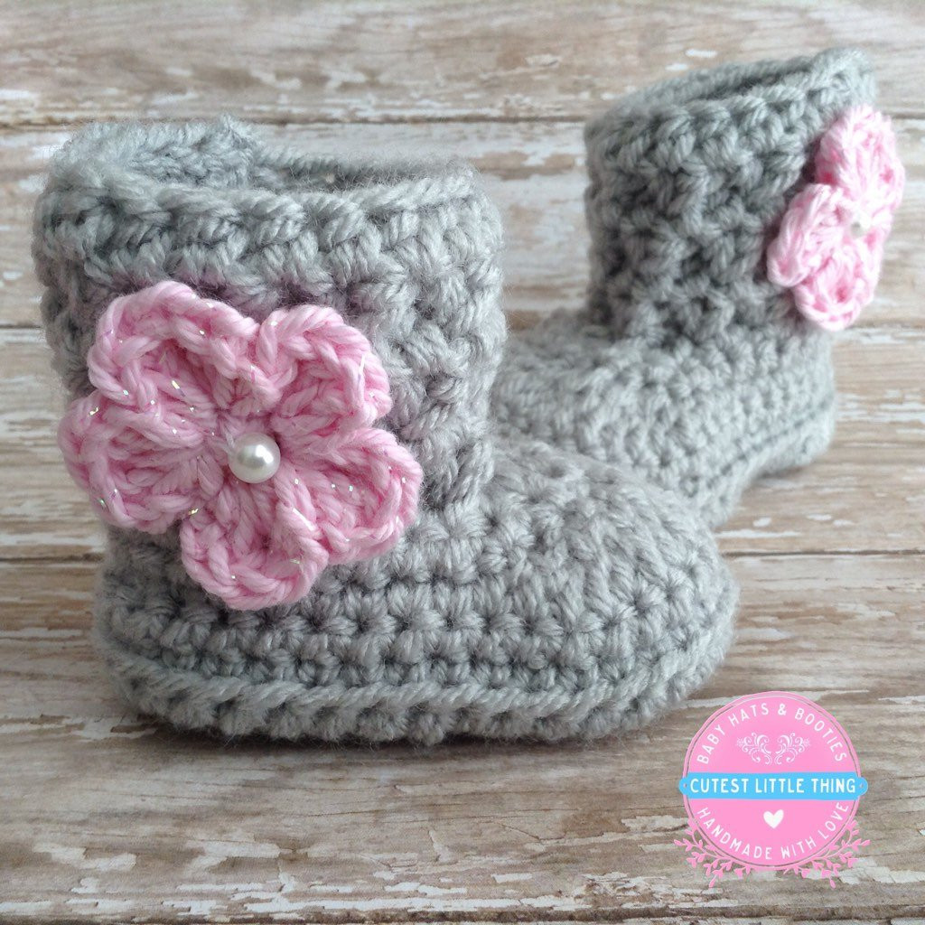 Elegant Baby Girl Boots Crochet Baby Girl Booties Gray Baby Booties Crochet Baby socks Of New Berry Baby Booties Knitting Pattern Easy Crochet Baby socks