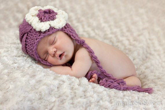 Baby Knit Hat Baby Girl Knit Hat Knit Newborn Hat Baby