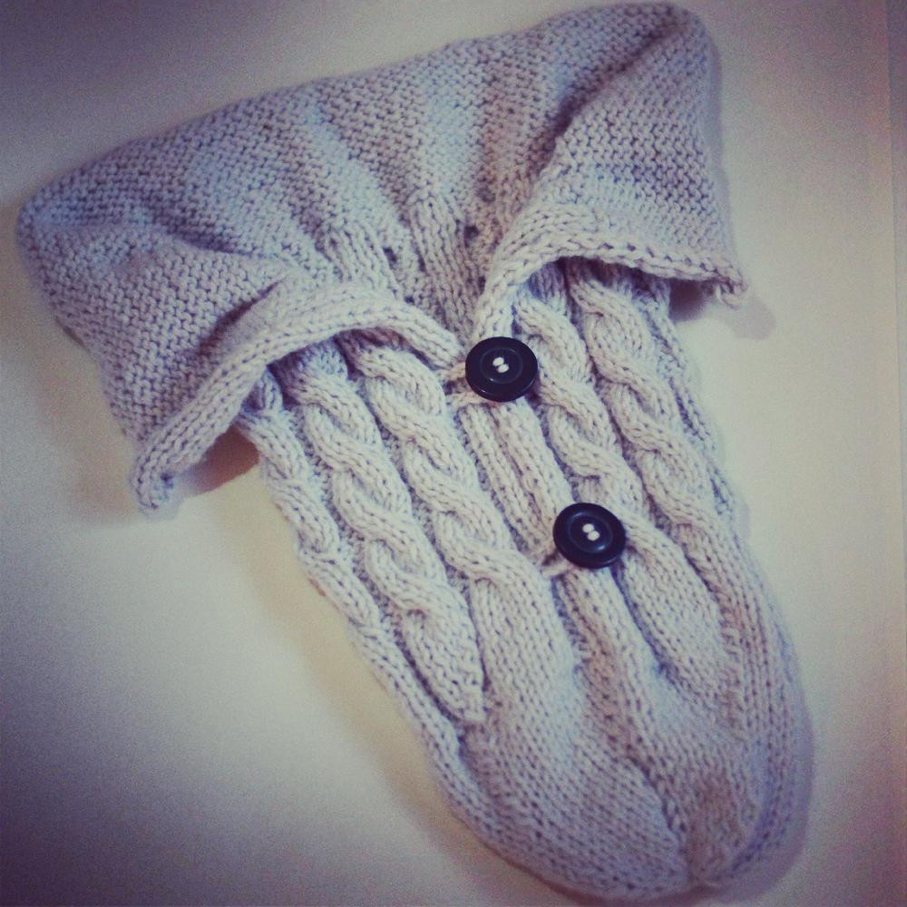 Baby knitted cocoon
