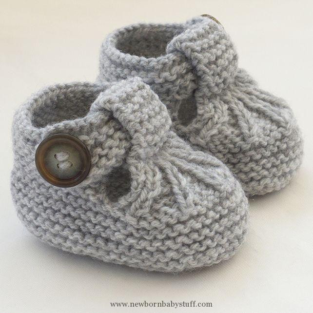 Baby Knitting Patterns Hand Knitted Baby Shoes Booties