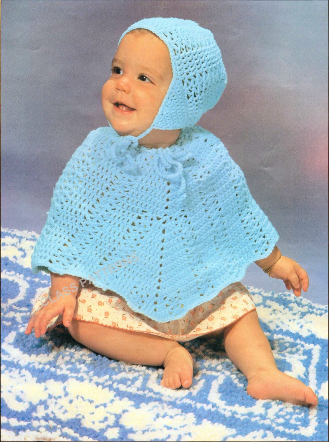baby poncho set baby crochet pattern cape and hat set two