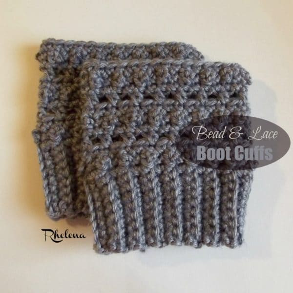 bead and lace boot cuffs