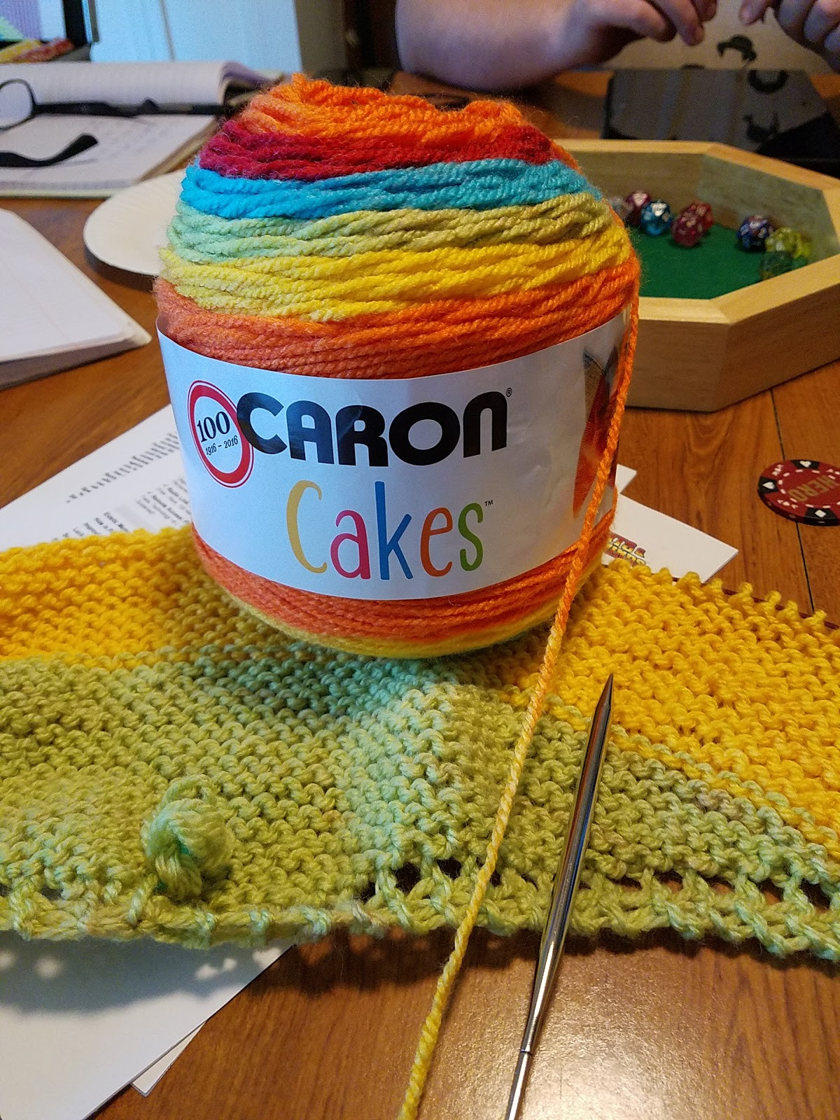 Becca s Crazy Projects Big Knitting with Caron Cakes