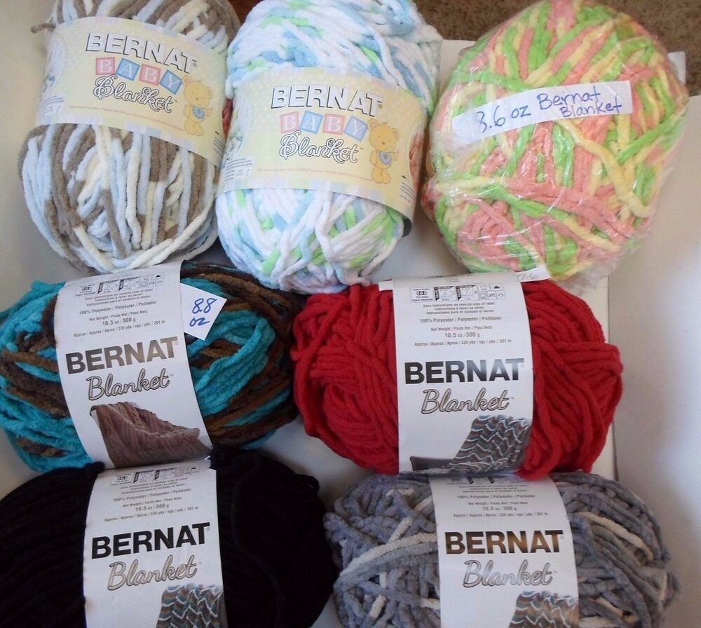 Bernat Blanket OR HOME BUNDLE 6 Bulky 18 CHOICES some