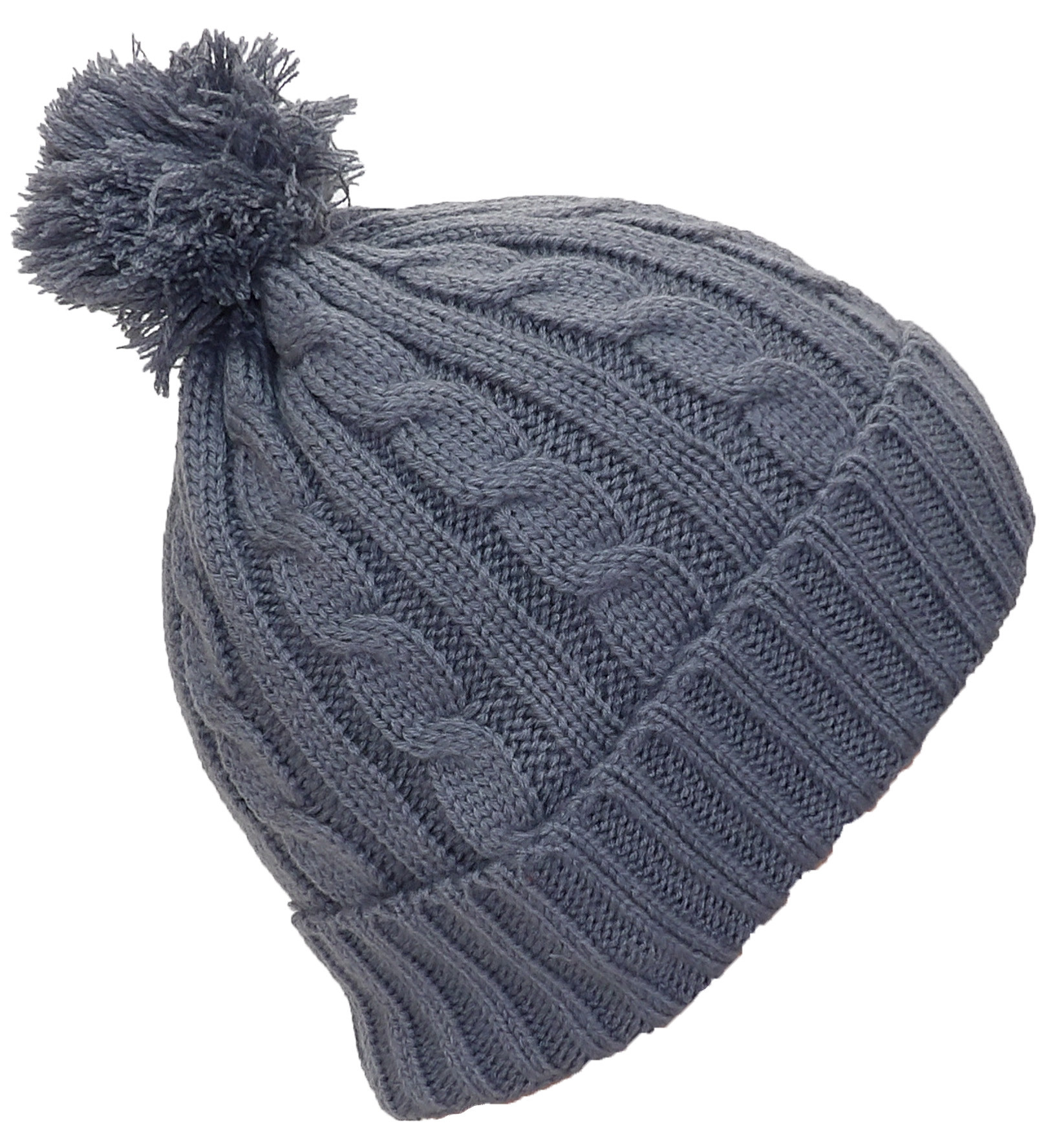 Elegant Best Winter Hats Womens Tight Cable Knit Cuffed Cap W Pom Winter Knit Hats Of Charming 40 Photos Winter Knit Hats