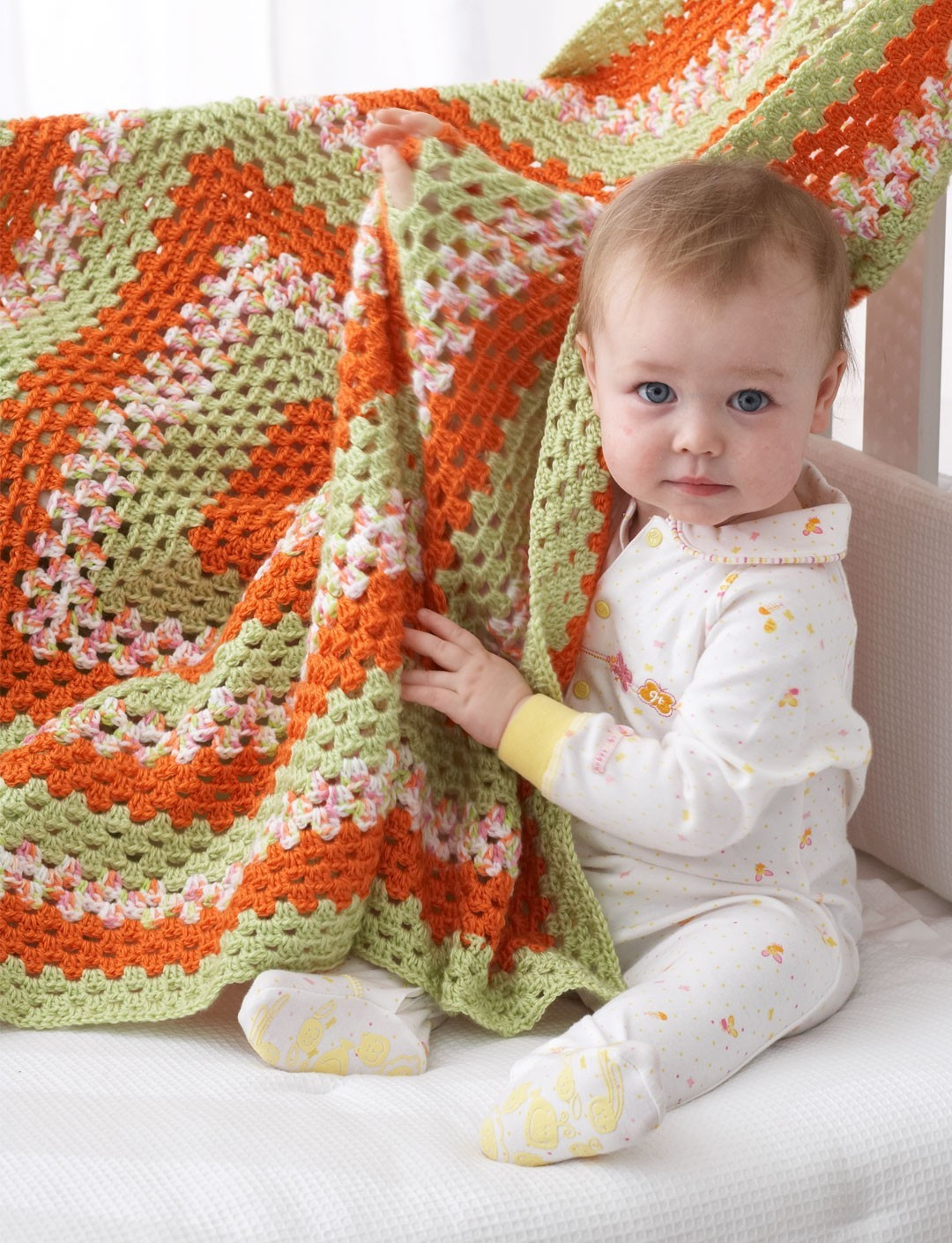 Elegant Big Granny Baby Blanket In Bernat softee Baby solids Bernat Baby Blanket Knitting Patterns Of Charming 43 Models Bernat Baby Blanket Knitting Patterns