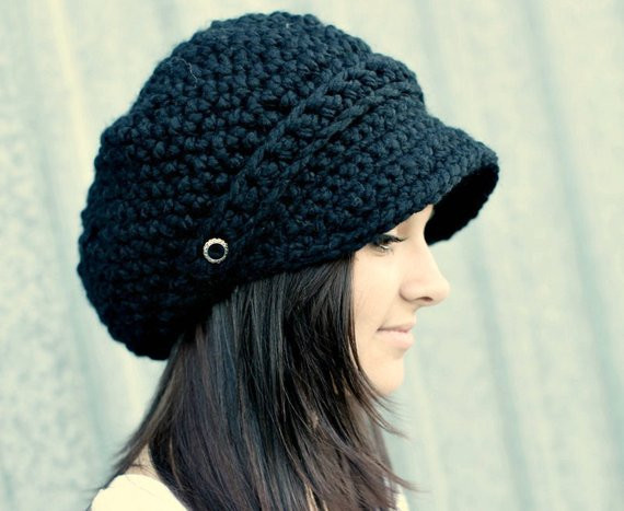 Elegant Black Hat Black Newsboy Hat Black Crochet Hat Black Womens Hat Ladies Crochet Hats Of Contemporary 46 Pics Ladies Crochet Hats