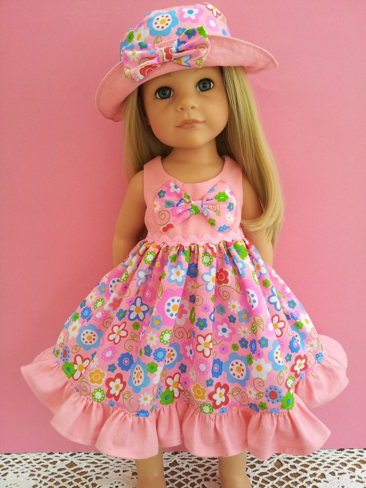 Elegant Bright Summer Flowers Dress with Frill and Half Appliqued American Doll Dresses Of Great 47 Images American Doll Dresses