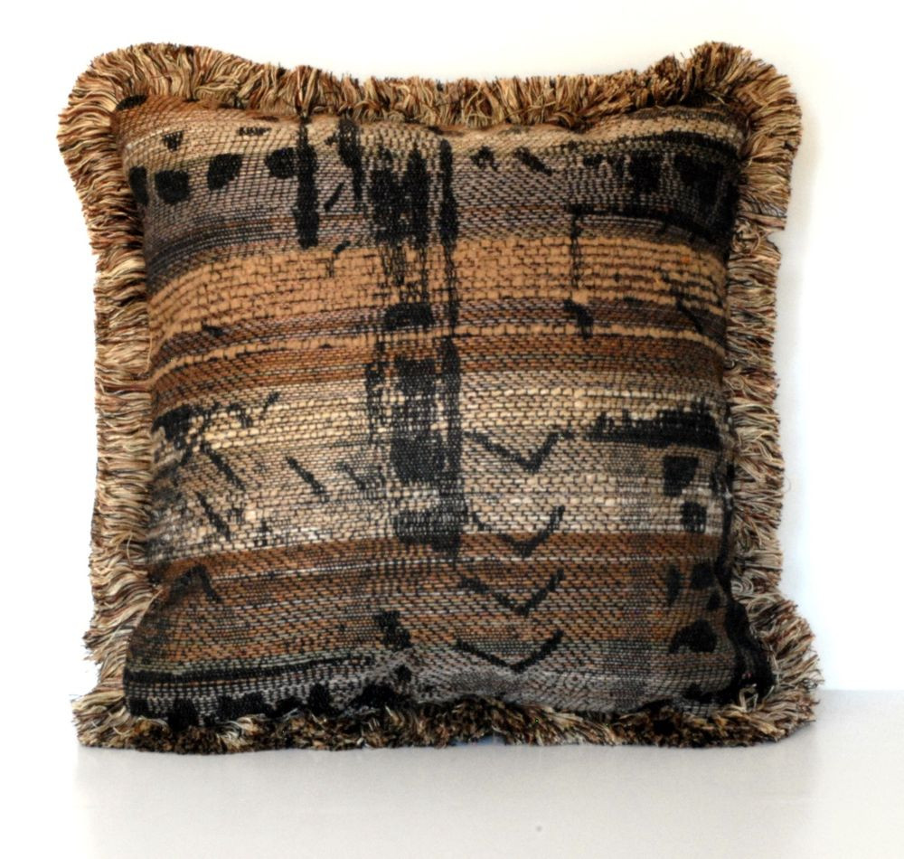 Elegant Brown Tan Black Modern Decorative Throw Pillow with Fringe Patterned Throw Of Amazing 40 Photos Patterned Throw