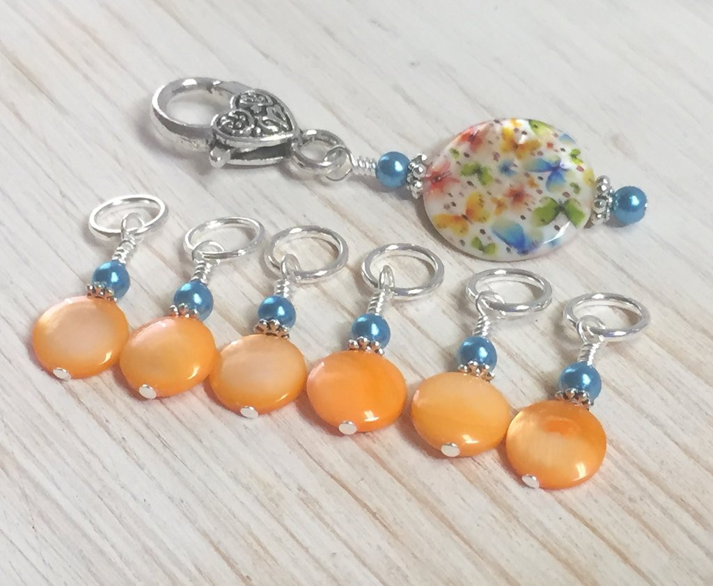 Elegant butterflies Stitch Marker Holder with Snag Free Pastel Knitting Stitch Markers Of Gorgeous 48 Models Knitting Stitch Markers