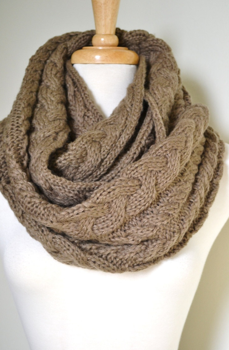 Elegant Cable Knit Infinity Scarf In Taupe Cable Knit Scarf Of Delightful 48 Ideas Cable Knit Scarf
