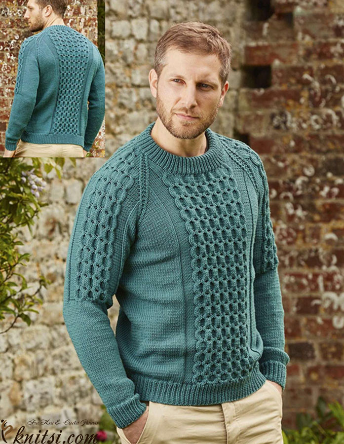 Elegant Cabled Raglan Sweater for Men Crochet Mens Sweater Of Awesome Men S Sweater Knitting Pattern Free Crochet Mens Sweater