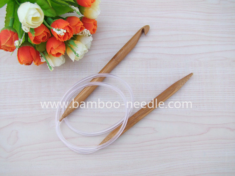 sell carbonized circular bamboo knitting needles with hook china manufacturer