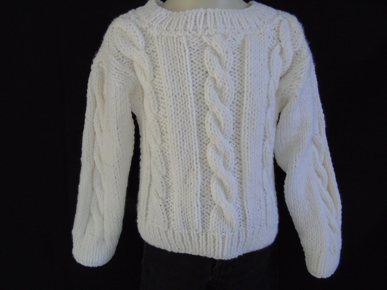 "Elegant Child S Cable Knit Cardigan Pattern Long Sweater Jacket Cable Knit Sweater Pattern Of New Lace & Cable Sweater Dk Wool 30"" 40"" Knitting Cable Knit Sweater Pattern"