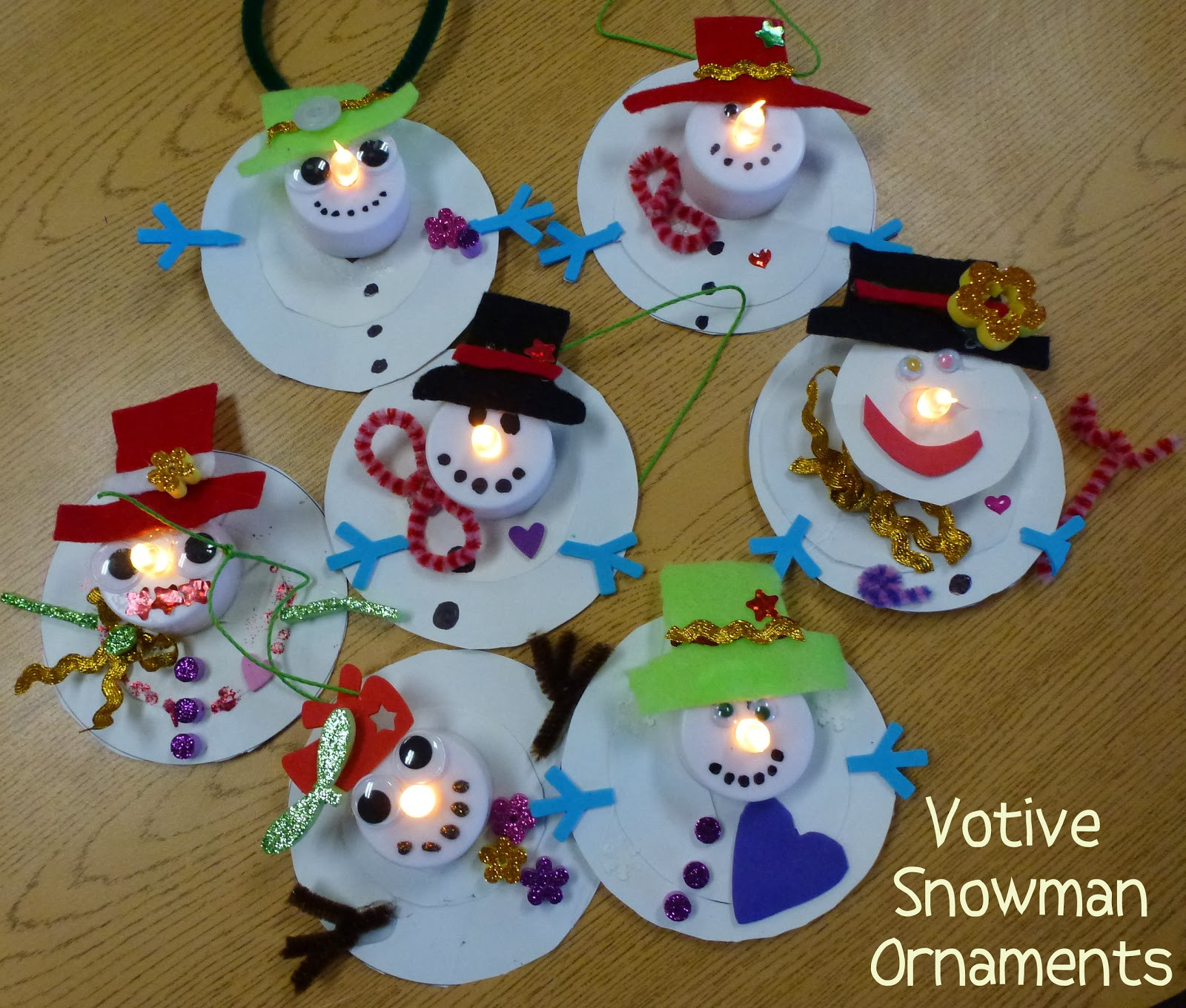 Choices for Children Votive Snowman Ornaments