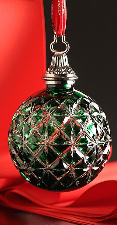 Elegant Christmas ornaments Luxury Waterford 2014 Annual Cased Ball ornament Emerald Z Of Contemporary 40 Images Elegant Christmas ornaments