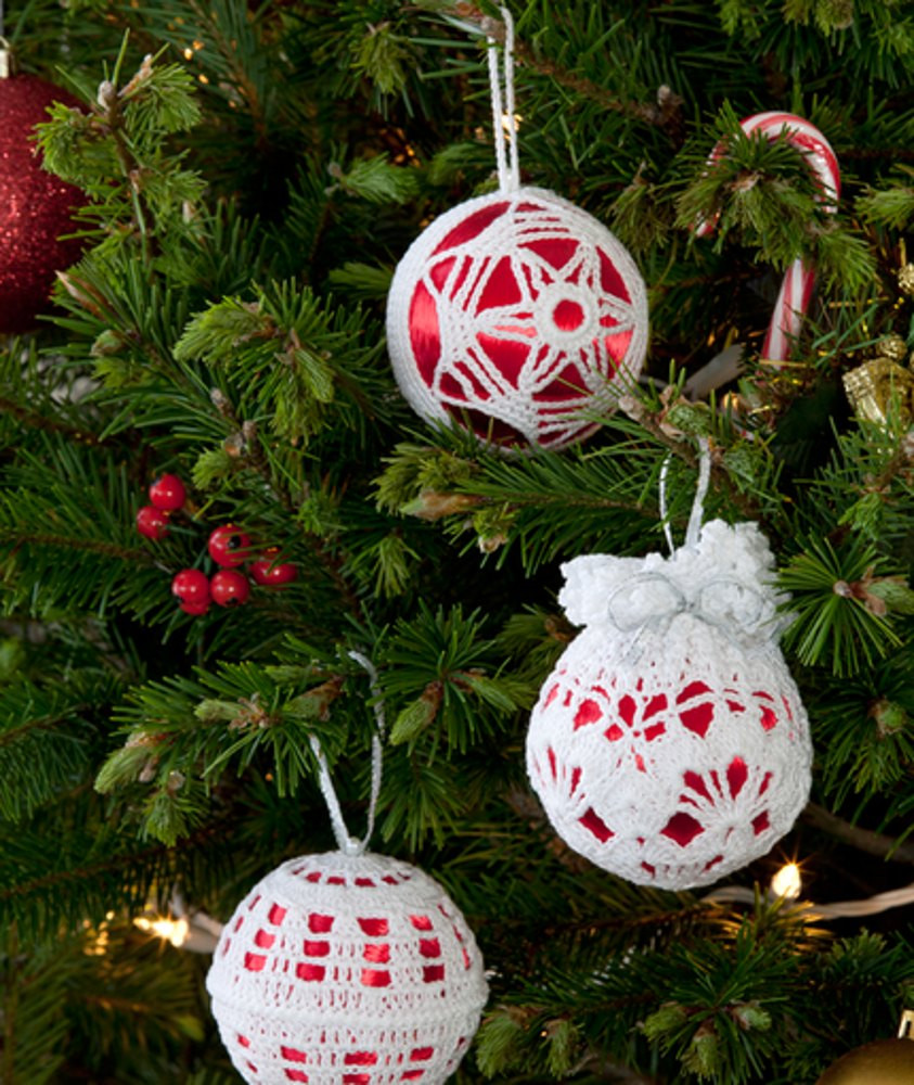 Elegant Christmas Tree Decor In Red Heart Aunt Lydia S Classic Red Heart Crochet Thread Size 3 Of Beautiful 42 Ideas Red Heart Crochet Thread Size 3