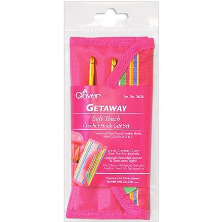 Elegant Clover Getaway soft touch Crochet Hooks Gift Set Sizes C Clover soft touch Crochet Hooks Of Elegant Clover soft touch Steel Crochet Hook 13cm Clover soft touch Crochet Hooks