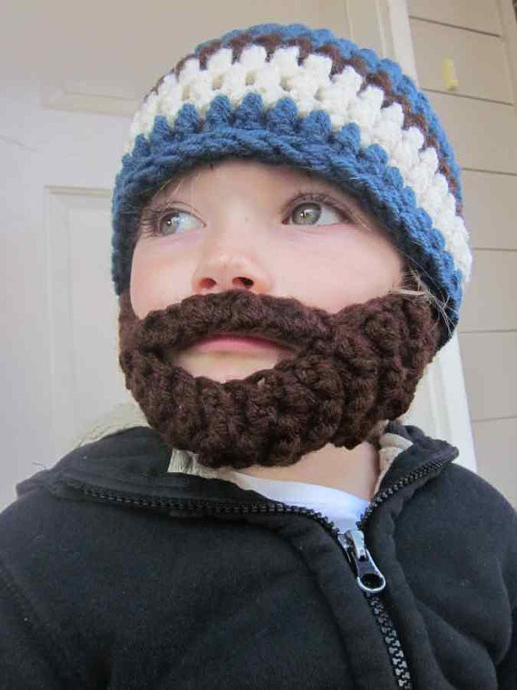 Elegant Colorful Kids Beard Crochet Hat Collection 2015 Crochet Beard Hat Of Charming 44 Models Crochet Beard Hat