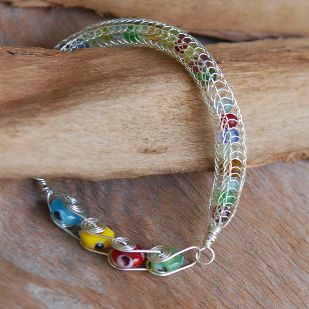 Elegant Colorful Sterling Silver Viking Knit Bracelet Knitted Bracelet Of Brilliant 50 Models Knitted Bracelet